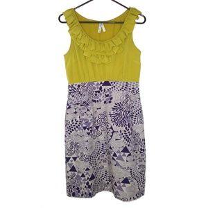 Maeve Anthropologie Seaside Fields Dress 4 Silk